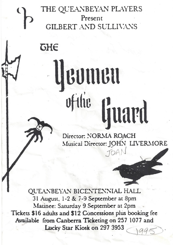 1995 The Yeomen of the Guard